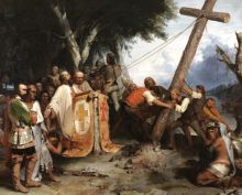 Peter Frederick Rothermel De Soto Raising His Cross on the Banks of the Mississippi