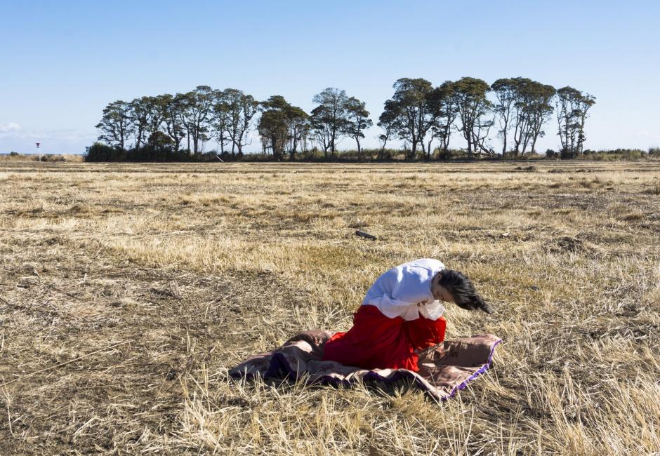 Eiko Otake, <em>Eiko in Fukushima, Yaburemachi, 15 January, No. 217</em>, Photo by William Johnston