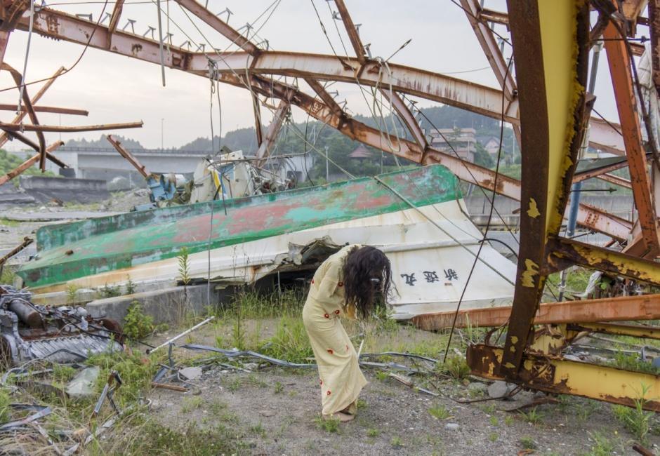 Eiko Otake, <em>Eiko in Fukushima, Tomioka, 22 July 2014, No. 1104</em>, Photo by William Johnston