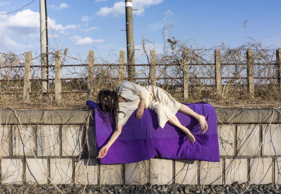 Eiko Otake, <em>Eiko in Fukushima, Komagamine, 17 January 2014, No. 146</em>, Photo by William Johnston