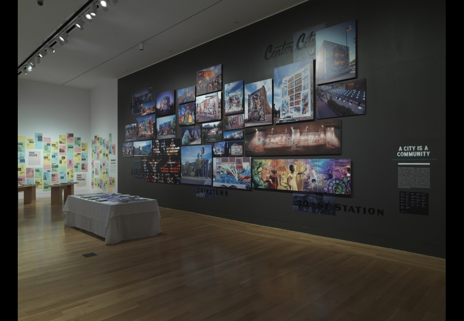 Installation view of <em>Beyond the Paint: Philadelphia's Mural Arts</em>, 2014, Photo by Barbara Katus