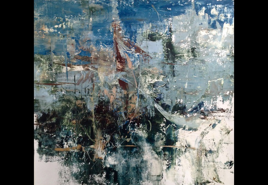 Madeline Peckenpaugh, <em>Neither Can I</em>, oil on canvas, 64 x 62 in.