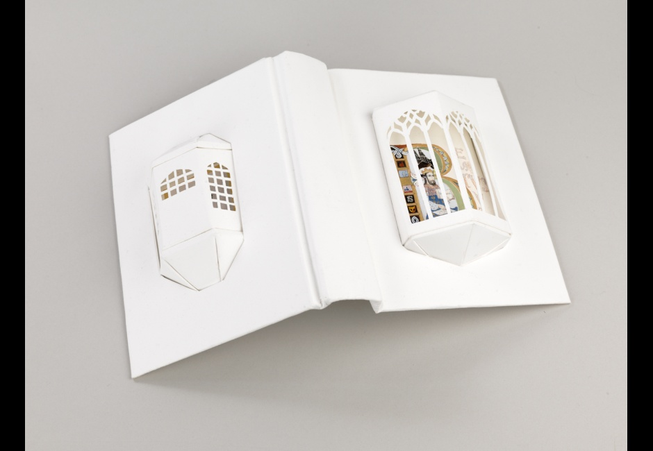 Brian Van Camerik, <em>Algorithmic Romances: Beatus Vir</em>, Rives BFK, gauche and watercolor, 25 x 60 in.