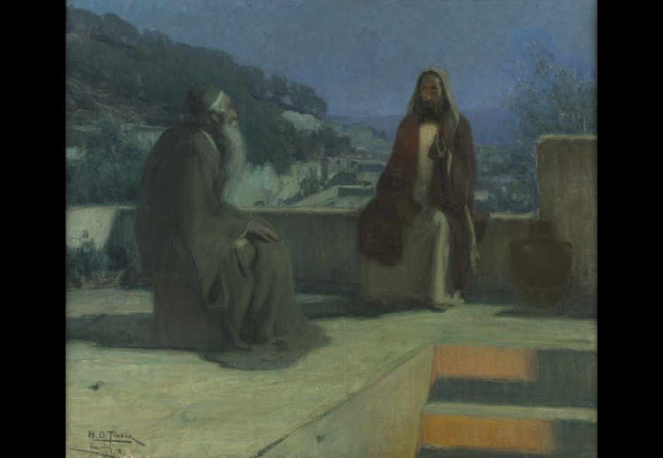 Henry O. Tanner, <em>Nicodemus</em>, 1899, Oil on canvas, 33 11/16 x 39 1/2 in., Joseph E. Temple Fund, 1900.1