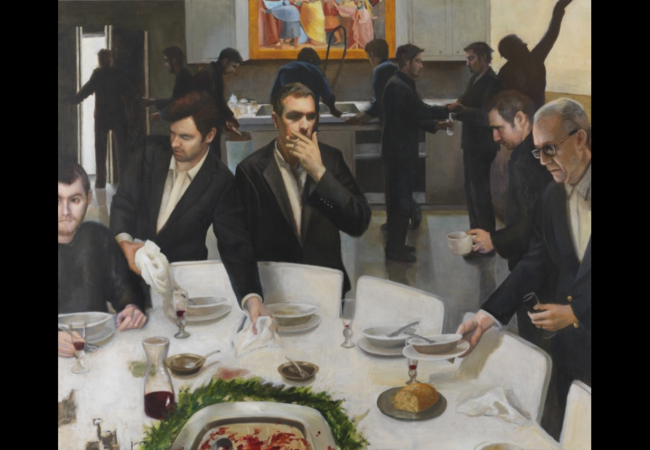 Read Lockhart, <em>Clearing up After the Last Supper</em>, 2014, oil on canvas, 68 x 80 in., Judith McGregor Caldwell Purchase Prize, 2014.14