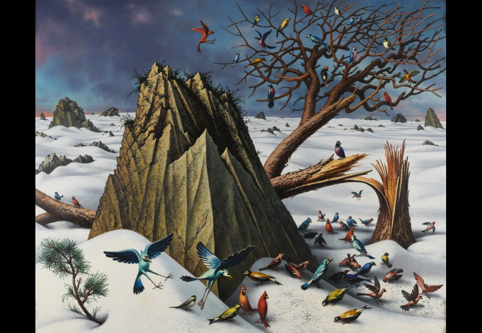 <em>Winter</em>, 1964, Oil on canvas, 48 x 60 in., Courtesy of Eric S. Brecher, Art © Estate of Peter Blume/Licensed by VAGA, New York
