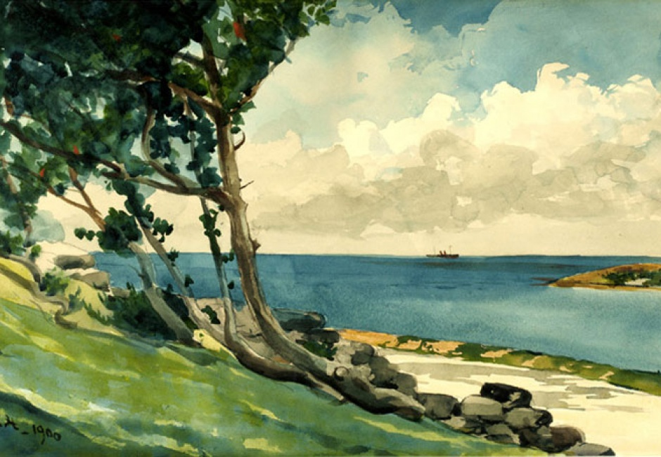 Winslow Homer, <em>North Road, Bermuda</em>, 1900, Watercolor and graphite on white wove paper, 13 15/16 x 21 in., Partial Gift and Bequest of Bernice McIlhenny Wintersteen, 1978.19