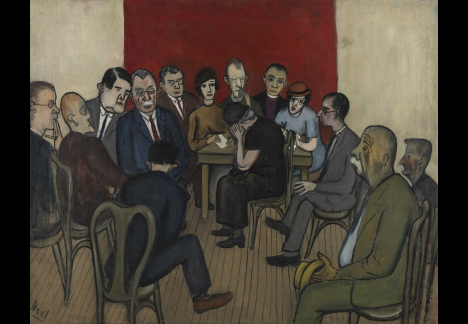Alice Neel, <em>Investigations of Poverty at the Russell Sage Foundation</em>, 1933, Oil on canvas, 24 1/8 x 30 1/8 in., Art by Women Collection, Gift of Linda Lee Alter, 2010.27.2