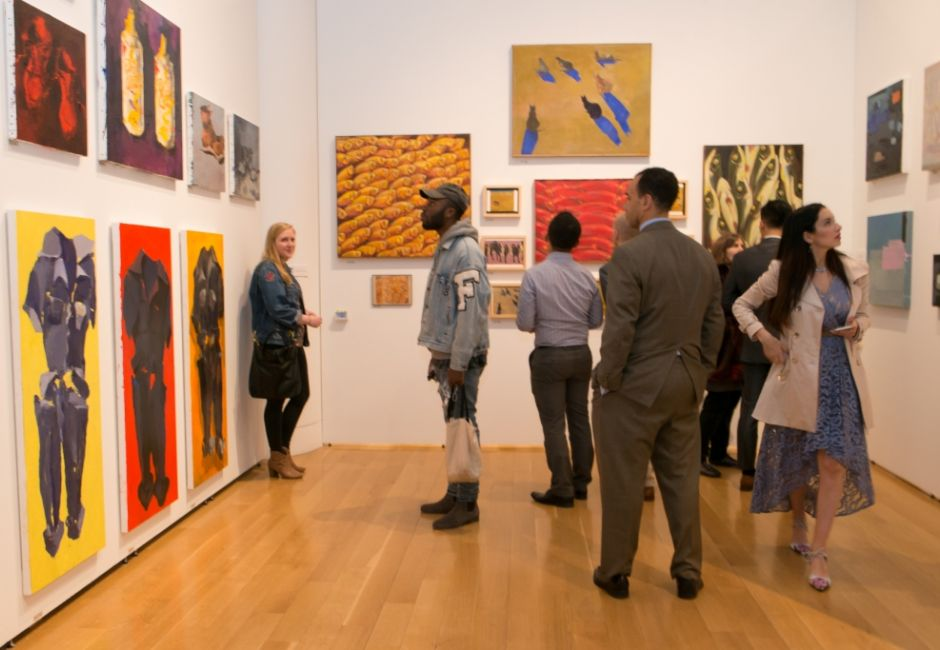 <em>115th Annual Student Exhibition</em> opening reception, May 2016, Samuel M.V. Hamilton Building