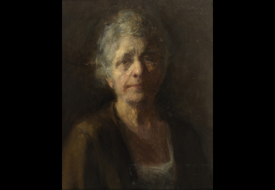 Susan Macdowell Eakins, <em>Self-Portrait</em>, 1910-20, Oil on fabric, mounted on masonite, 20 x 16 in., Charles Bregler's Thomas Eakins Collection, purchased with the partial support of the Pew Memorial Trust and the Henry C. Gibson Fund, 1985.68.39.2