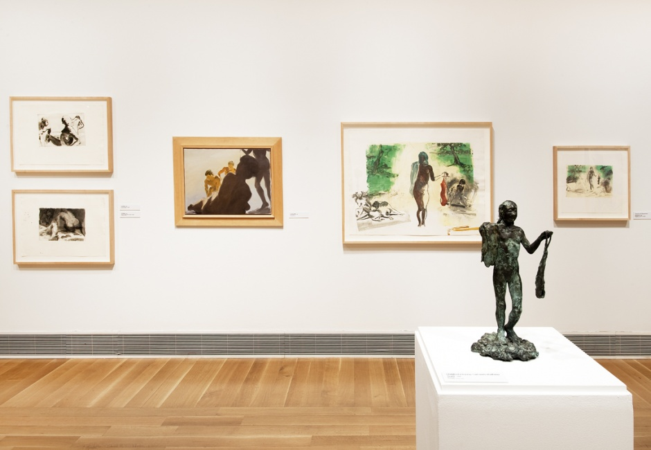 Installation view of <em>Dive Deep: Eric Fischl and the Process of Painting</em>, 2012, Photo by Rick Echelmeyer