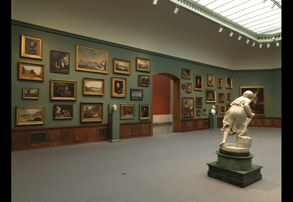 Installation view of <em>A New Look: Samuel F.B. Morse's Gallery of the Louvre</em>, 2013, Photo by Barbara Katus