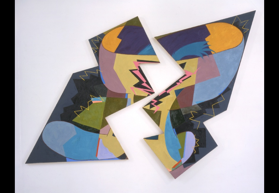 Elizabeth Murray, <em>Breaking</em>, 1980, Encaustic on two canvases, 106 x 148 in., Henry C. Gibson Fund, 2004.18a&b