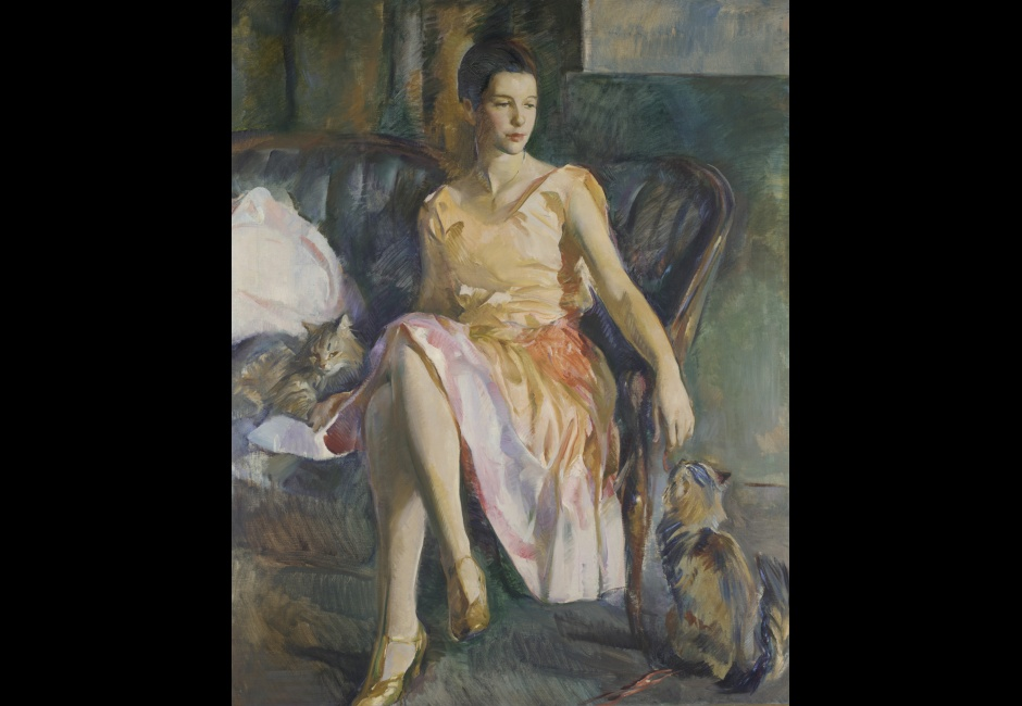 Alice Kent Stoddard, <em>Polly</em>, by 1928, Oil on canvas, 54 x 44 1/8 in., Gift of Mrs. H. Lea Hudson, 1966.1