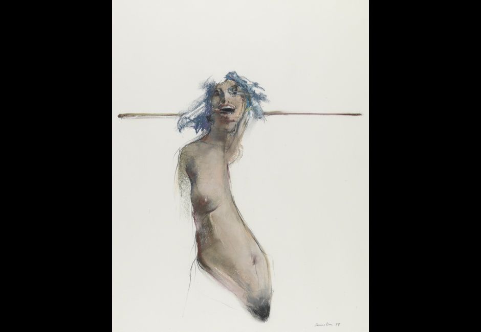 Bruce Samuelson, <em>Untitled</em>, 1977, Oil pastel and graphite on white wove paper, 25 5/8 x 19 3/4 in., Funds provided by the Charles E. Merrill Trust, Marian B. Stroud and Dr. and Mrs. Henry A. Jordan, 1977.5.5