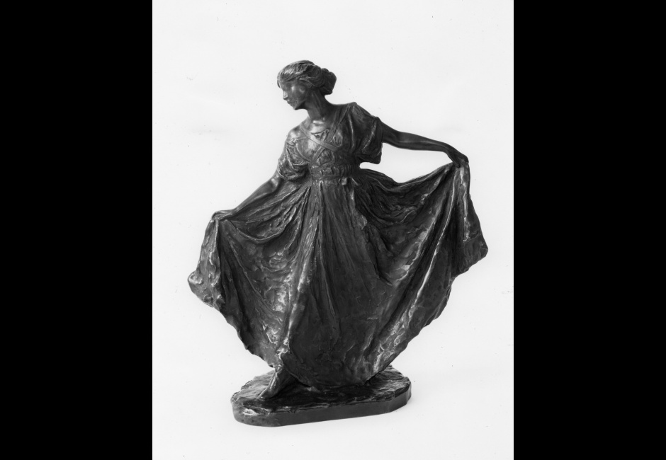 Bessie Potter Vonnoh, <em>Dance</em>, 1910, Bronze with brown-and-green patina; lost-wax cast possibly in 1913, 12 x 10 5/8 x 4 3/4 in., Henry D. Gilpin Fund, 1973.24