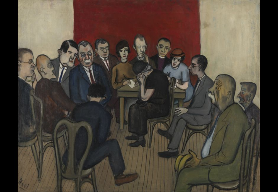"Alice Neel, ""Investigation of Poverty at the Russell Sage Foundation"" (1933)"