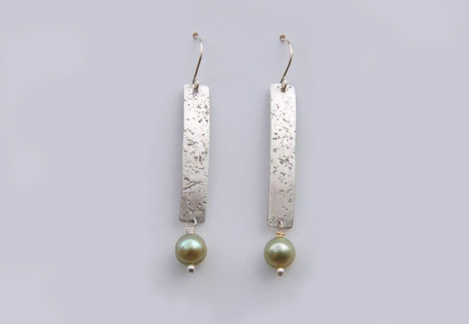 Sterling Textured Earring