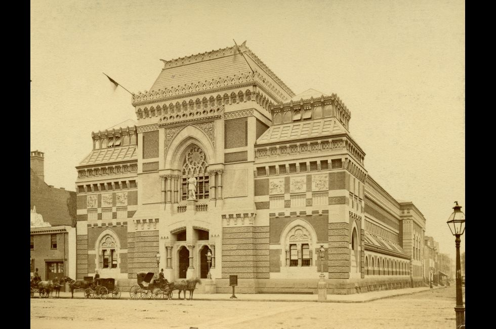 PAFA during its first year of 1876. Photo by Frederick Gutekunst.