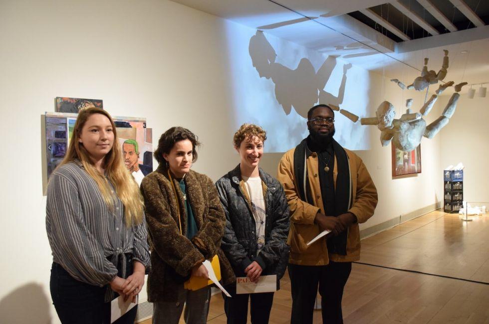 Crosscurrents Prize Recipients (L-R): Ariana Cadasdo,  Maria Agudeo, Halle Ballard, Mark Fleuridor.