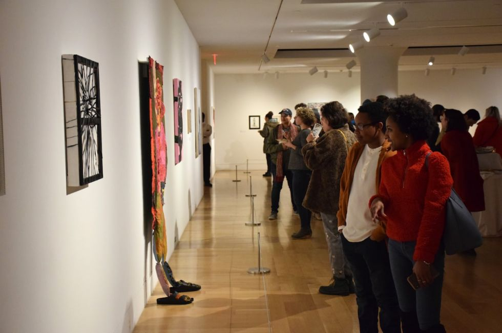 "Opening reception for the ""Crosscurrents"" exhibition and scholarship competition."