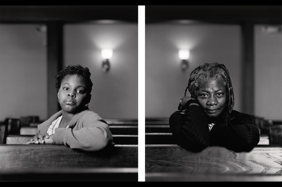 "Dawoud Bey, ""Mathes Manafee and Cassandra Griffin (from The Birmingham project)"" (2012/2014)"