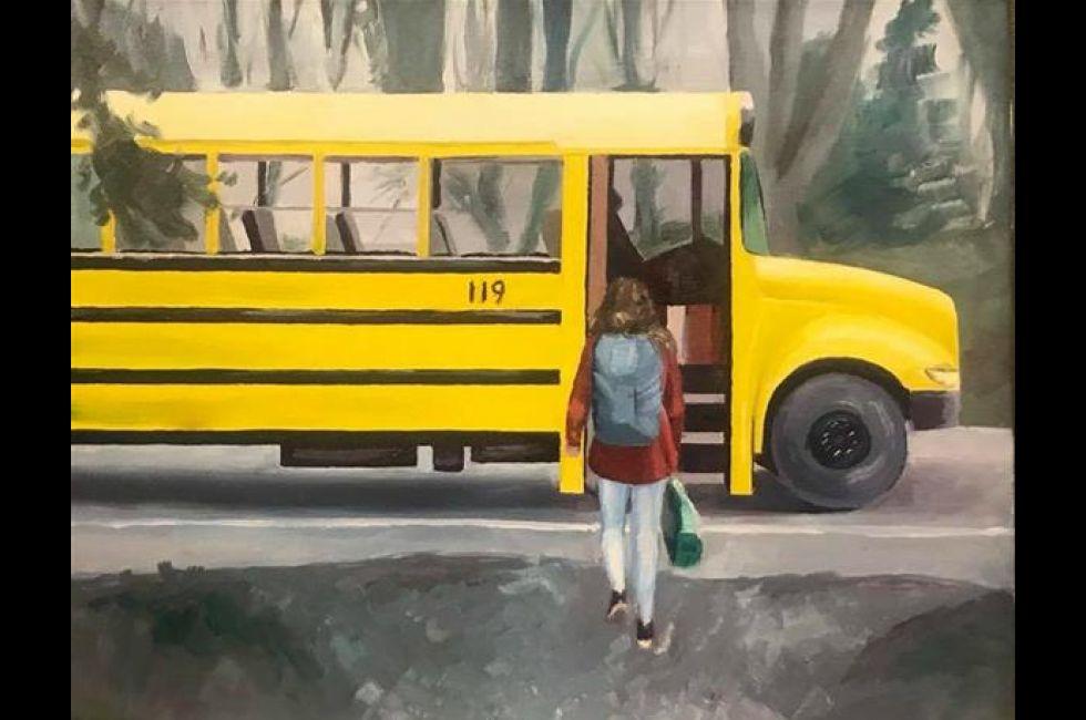 """Grace Mox, """"School Bus"""""""