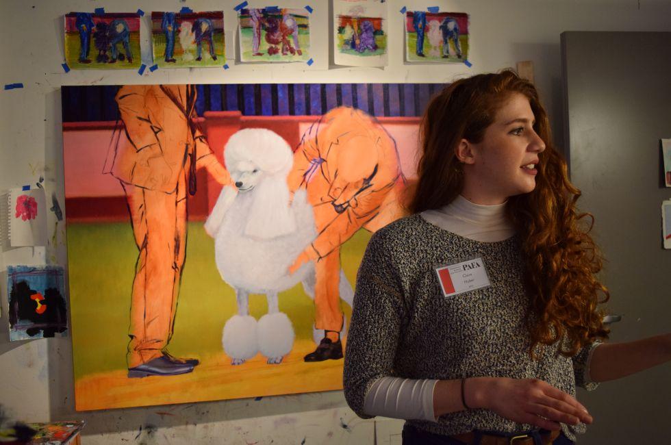 Claire Huber in the studio.
