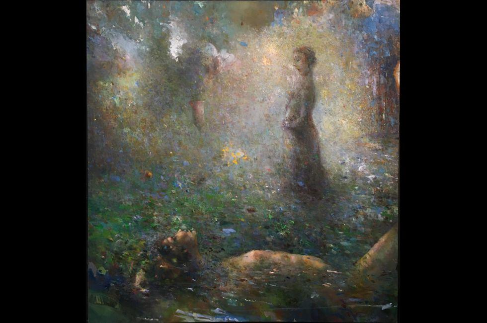 Mark Blavat, '32 Pathways: Binah x of f', oil on canvas, 58 in x 54 in, 2018
