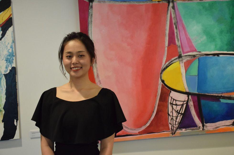 Exhibition curator Jiatong Tian '20.