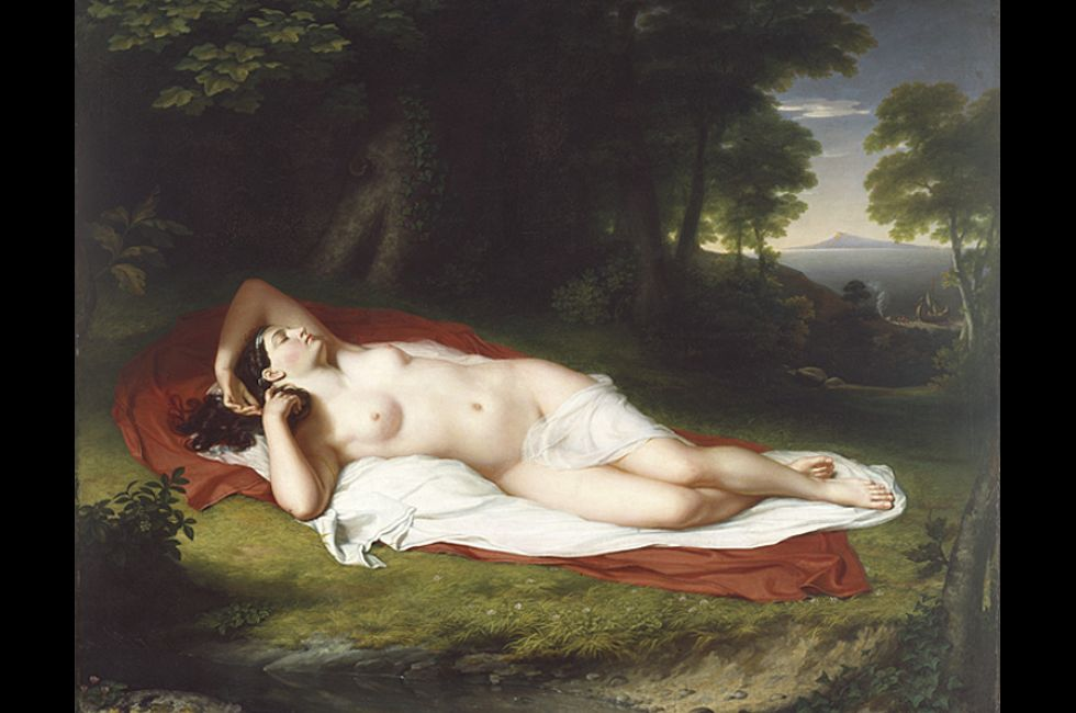 """John Vanderlyn, """"Ariadne Asleep on the Island of Naxos"""" (1809-14)"""
