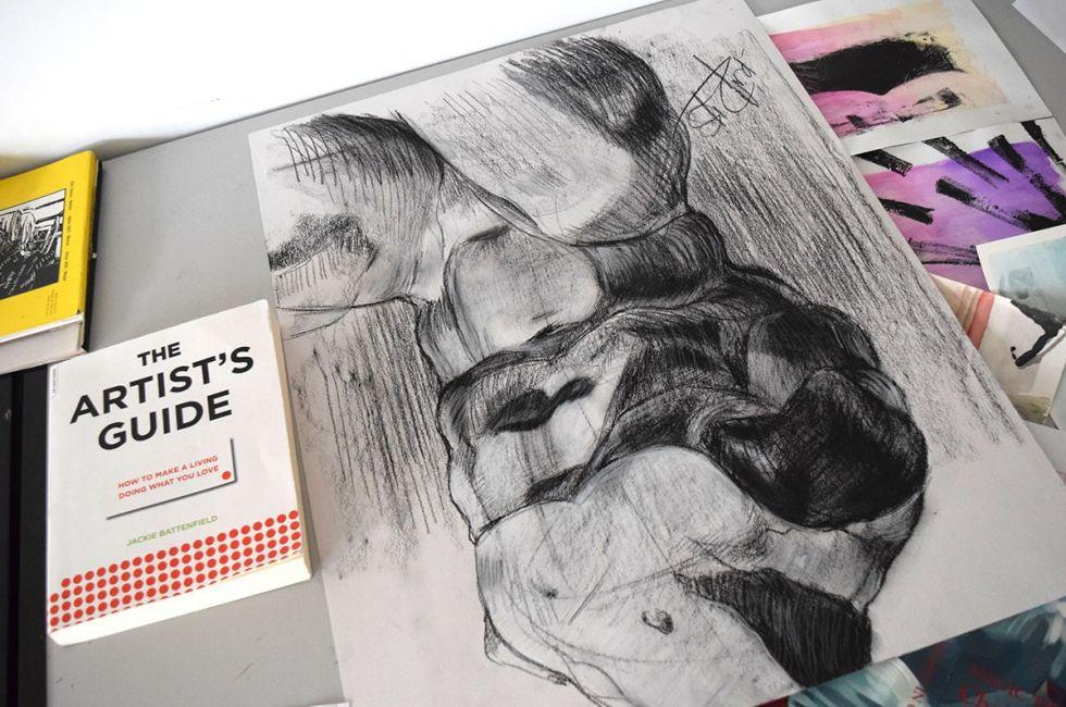 Drawing by Kaisha Dukes (BFA '20).