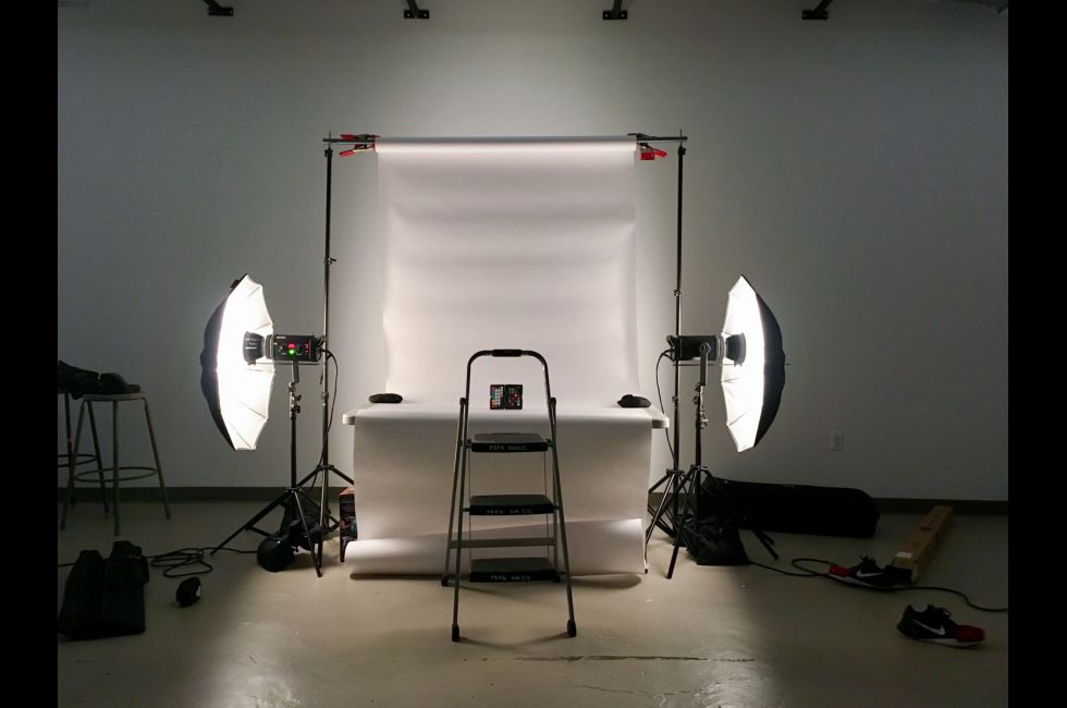 Three-dimensional objects can be photographed professionally with one of PAFA's studio lighting kits.