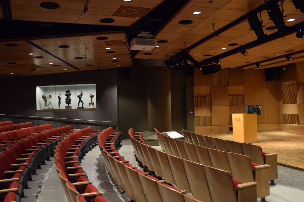 Interior of the newly opened Rhoden Arts Center.