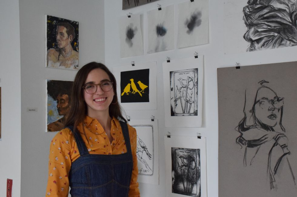 Kate McCanney, a PAFA Summer Academy student.