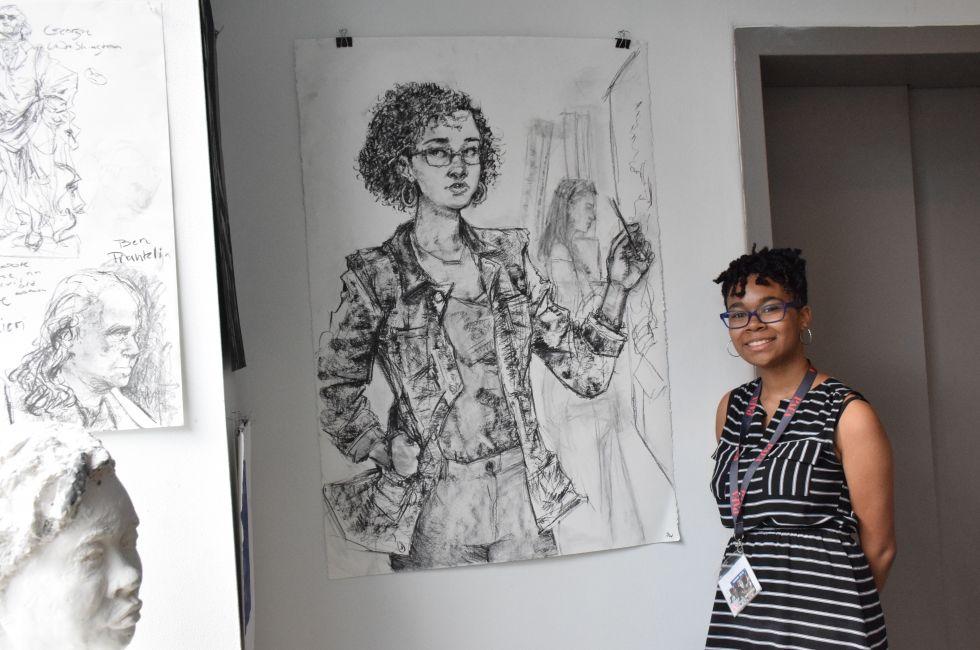 Safiya Wharton, a PAFA Summer Academy student.