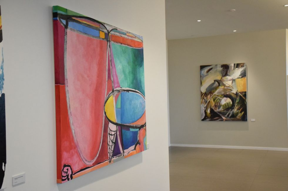 "Installation view of ""Song of Colors"" at FMC Corporation."