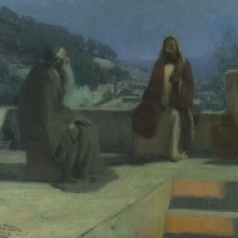 Henry O. Tanner, Nicodemus, 1899, Oil on canvas, 33 11/16 x 39 1/2 in., Joseph E. Temple Fund, 1900.1