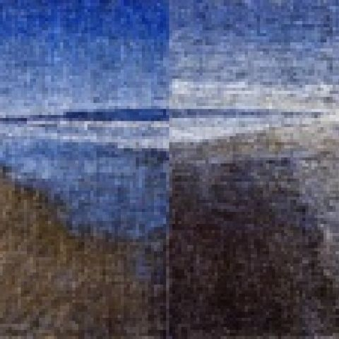 Amagansett Diptych #1, 2007-08, oil on 2 canvases, 108 x 216 inches overall, Collection of the artist, New York