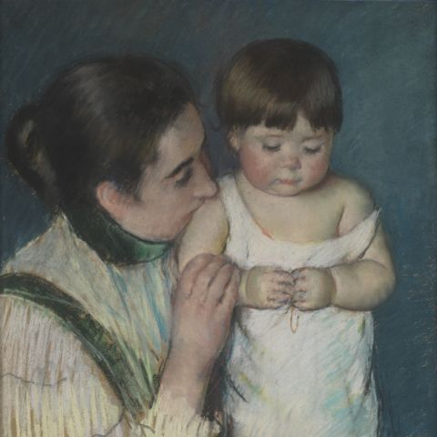 Mary Cassatt, Young Thomas and his Mother (1893)