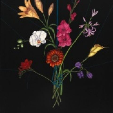 Maria Tomasula, Bouquet, 2000, oil on linen, 48 x 36 in, Art by Women Collection, Gift of Linda Lee Alter, 2011.1.96