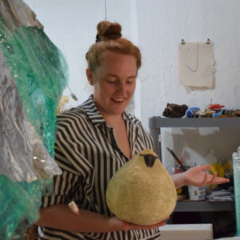 MFA Sara Havekotte in her studio