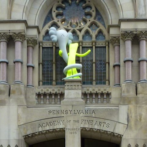 KAWS, Born to Bend, Historic Landmark Building plinth