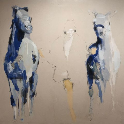 Bethann Parker_Return to the Stable_dry pigment and deer hide glue on canvas.jpg