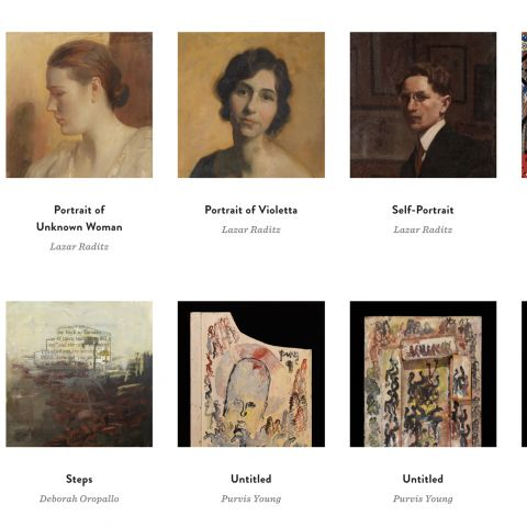 PAFA online collection screenshot