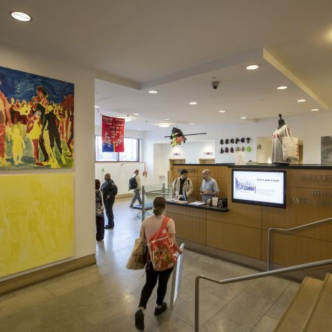 Students in the West lobby