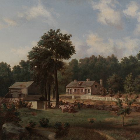 "Attributed to Joseph John, ""Homestead of James and Margaret Green, Springfield Township, Bucks County, Pennsylvania"""