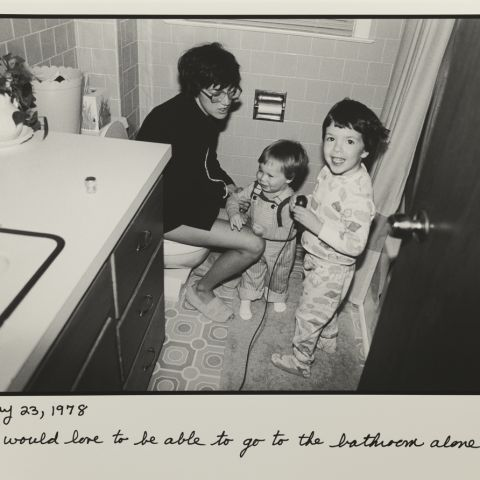 """Bathroom"" May 23, 1978 Judy Gelles"