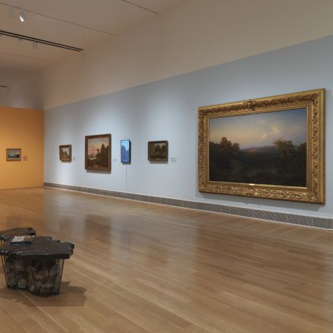 "installation view of ""from the schuylkill to the hudson"""