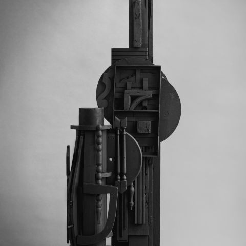 Louise Nevelson (1899-1988), Cascades Perpendiculars I, 1980-82. nds of Bernice McIlhenny Wintersteen in honor of her 80th birthday, and the Ware Trust Fund. © 2020 Estate of Louise Nevelson / Artists Rights Society (ARS), New York